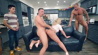 Ryan Conner sure to end up jizzed on face after wild gangbang