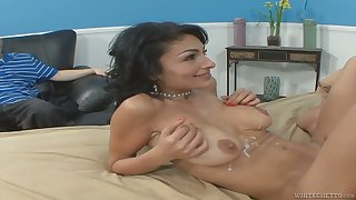 Sexy MILF Sami Scott wants to edict this young man what good sex is all about