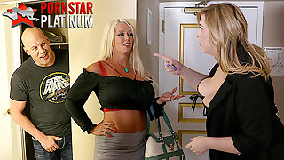 housewives Alura Jenson coupled with Lila Lovely getting laid a fan
