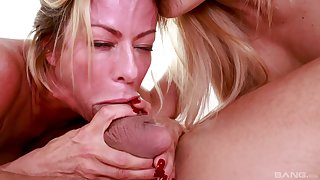 Horny Cherie Deville decides to share friend's hard penis with Alexis Fawx