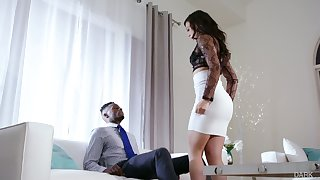 White whorish wife Whitney Wright makes her husband cuckold for put emphasize first time
