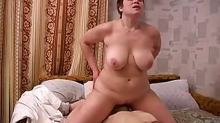 Lusty big breasted wifey sucks her soft-pedal so passionately involving 69