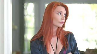 Slutty spliced Lacy Lennon is cheating on her blind economize at hand his brother