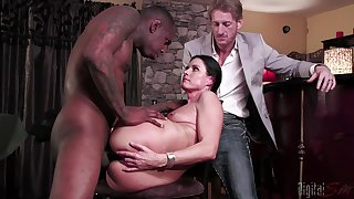 Slutty MILF India Summer cuckolds her retrench with a threatening monster unearth
