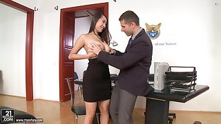 Office sex with jaw-dropping beauties involving the hottest compilation ever