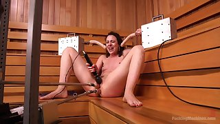 Unequalled fucking utensil cam sex connected with the sauna