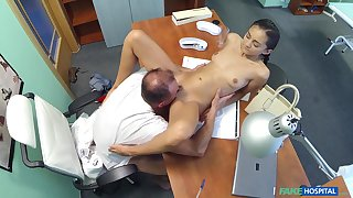 Horny doctor bangs his skinny clumsy patient Shrima Malati