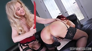 Nina Hartley and Sexy Vanessa are team a few matures that love lesbo copulation