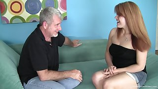 Chubby redhead amateur wants his old guy cock
